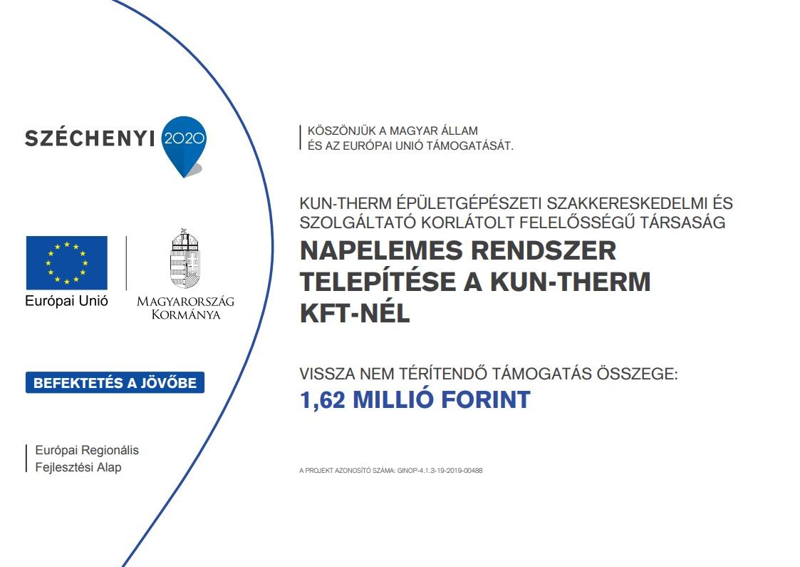 Kun-Therm Épületgépészet - Széchenyi 2020